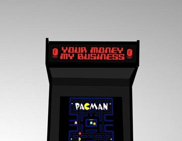 arcade machine pac man